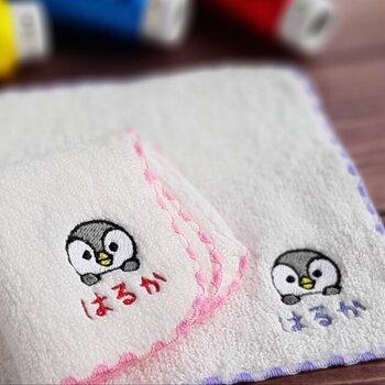 *画像/名前の手刺繍「はるか」(刺繍工房 Sweet Dreams さん)