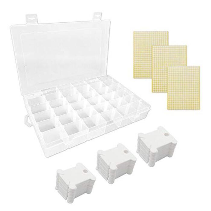 収納ボックス&糸巻き板100セット&3枚ステッカー