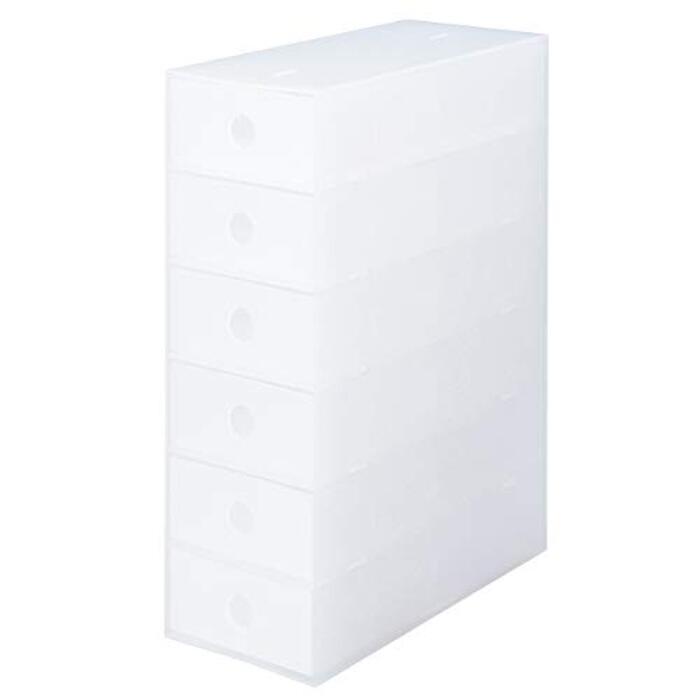 無印良品 ポリプロピレン小物収納ボックス6段・A4タテ 約幅11×奥行24.5×高さ32cm