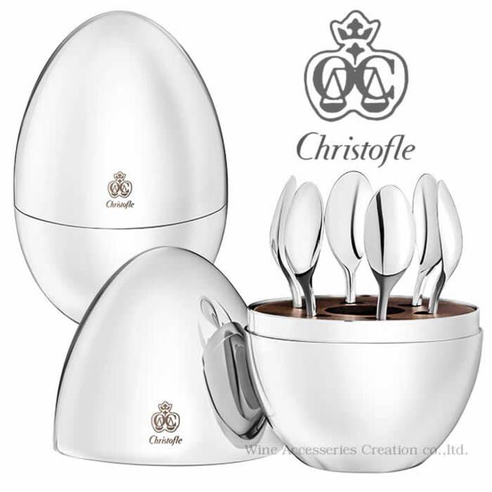 クリストフル MOOD COFFEE(ムードコーヒー) ティースプーン6ピースセット 正規品 CHR636SV