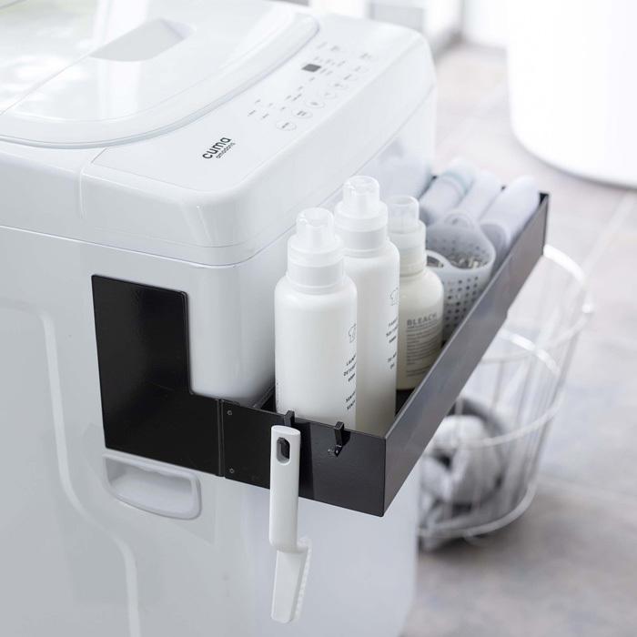山崎実業(Yamazaki) マグネット伸縮洗濯機ラック タワー