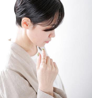 写真:SENリング&イヤーカフ mu/mi