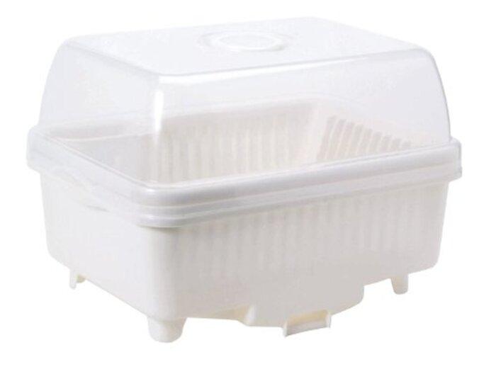 サンコープラスチック 日本製 水切りかご パールホワイト