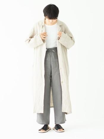 肌寒くなってきたら、羽織ものもあるので合わせて選んでみるのもおすすめ!ナチュラルなテイストはとてもおしゃれで、涼しげなルームウェアをお探しならsarasa design storeのルームウェアを是非チェックしてみて下さい*