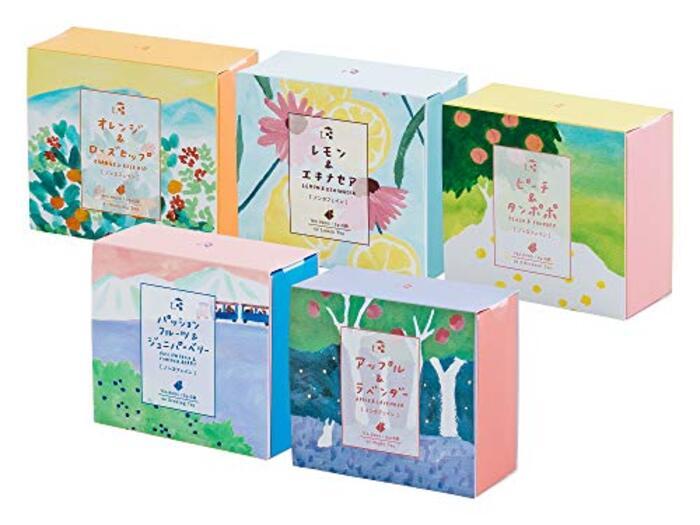 t.(ティードット) 南阿蘇 ハーブティー 幸せのお茶会 5箱セット ノンカフェイン 5包×5箱 箱入り ギフト プレゼント