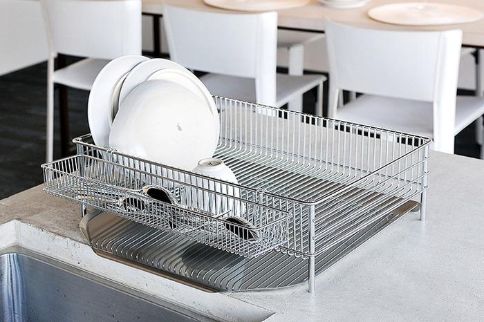 食器の水切りや収納にも便利!おすすめ「水切りかご・ラック」14選