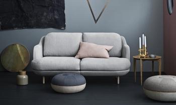 1872年に設立されたデンマーク家具ブランド「フリッツ・ハンセン」。ハンス・J・ウェグナーやアルネ・ヤコブセンなど北欧インテリアを代表する巨匠と手掛けた「セブンチェア」や「アントチェア」など名作椅子が有名。  こちらは、ハイメ・アジョンデザインの「ルネソファ」です。
