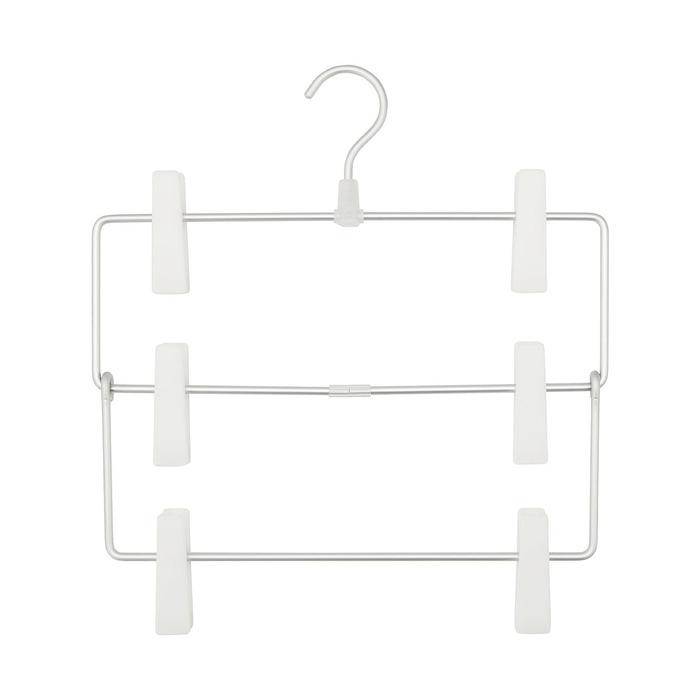 無印良品|アルミハンガー・パンツ/スカート用3段