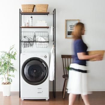使いやすく、スッキリと片付けたい「洗濯機周り」の収納アイデア