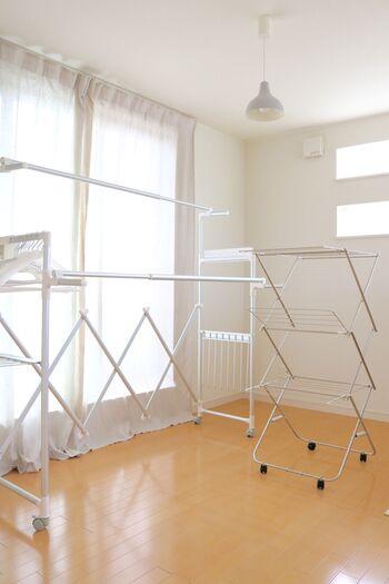 雨の日の洗濯もきっと快適に♪部屋干しのテクニック、教えます