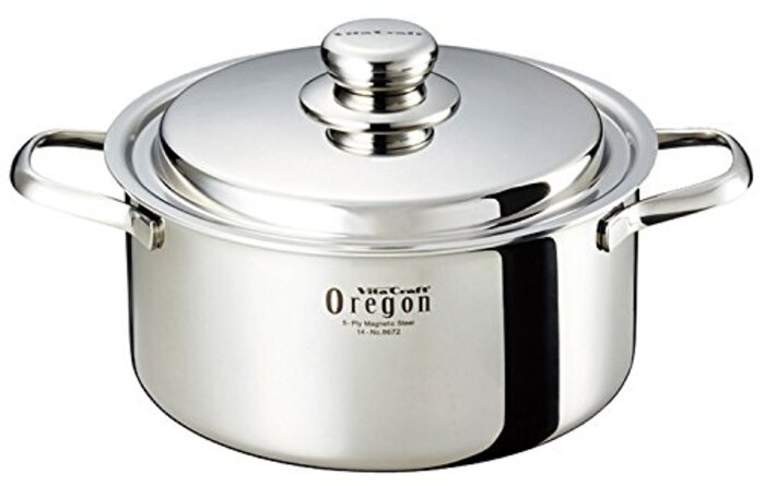 ビタクラフト 両手鍋 IH対応 ステンレス 蓋付 10年保証 オレゴン レシピ付