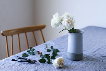 「生花を飾る」というと「お世話が大変なのでは?」とハードルが高いと感じる方もいるかもしれませんね。 ですが、お花を飾ることを、そこまで難しく考える必要はありません。例えば一輪の薔薇を好きな花瓶に挿すだけでも十分です。気軽に生活の中に生花を取り入れてみてはいかがでしょうか。お部屋の空気も気持ちもうるおいますよ。