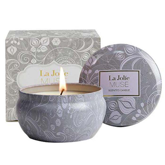 LA JOLIE MUSE アロマキャンドル ブルーロータスの香り ソイキャンドル 185g