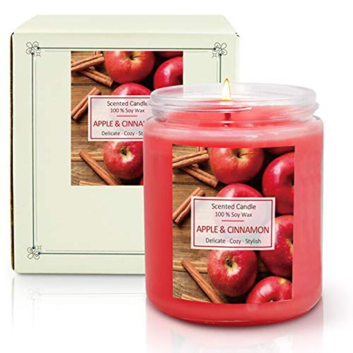 SCESNTORINI アロマキャンドル 100%天然大豆の香り付き