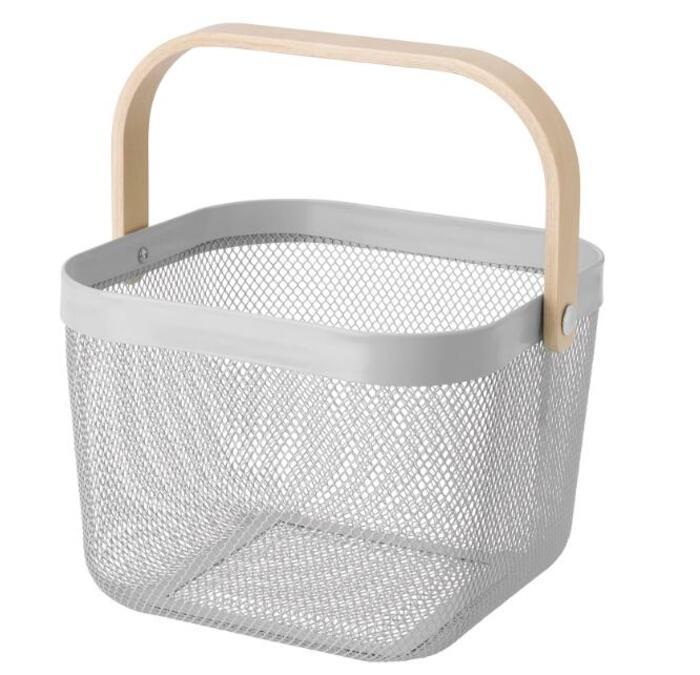 【人気カラー】 IKEA(イケア) RISATORP リーサトルプ バスケット グレー 25x26x18 cm