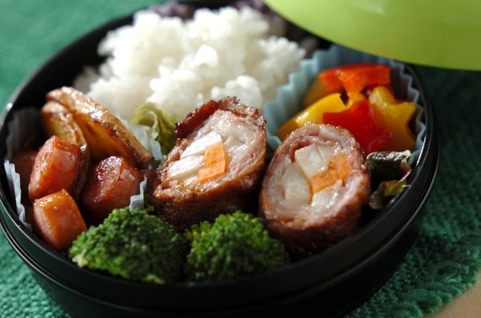 ピーマン嫌いの子供には、クセが少なく甘みがあって食べやすいパプリカがおすすめ。黄色や赤など、彩りにも使えて便利です。野菜の肉巻きと一緒に、作りおきするのがおすすめ!