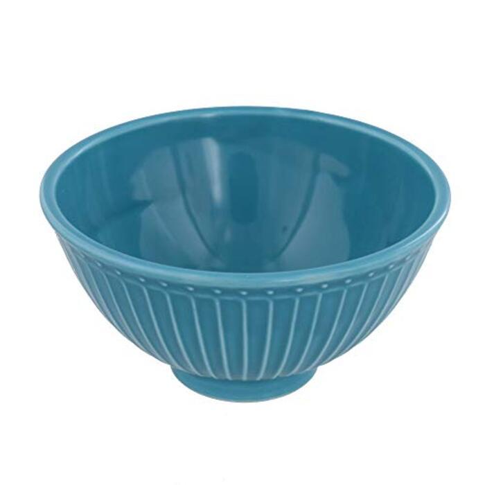 テーブルウェアイースト お茶碗 カラフルしのぎ(ターコイズ)