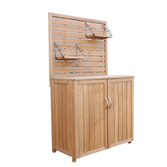 家具350 パネル付収納庫 物置 収納庫 木製 幅80cm スリム ベランダ 収納 80cm 45006