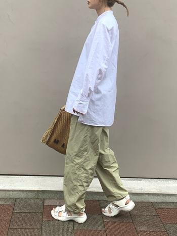 ユニクロの+Jはどう着る?スーピマコットンシャツのコーデ集