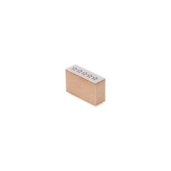 オリジナルダイアリーの制作に使える、シンプルな木製スタンプ。スタンプを押すだけで、5つのチェックボックスを簡単に作成できます。TODOリストや、日々の出来事をログとして記録するのに最適。