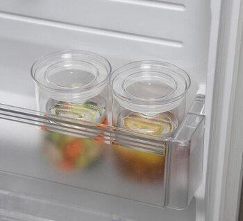 ふたも別で付いているので、冷蔵庫に入れても臭いや乾燥の心配も少ないです。ドアポケットにも収まる直径で、容量は800mlです。1~2人分のお漬物にぴったりです。