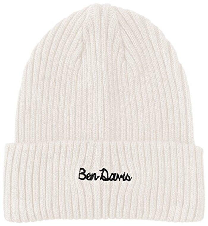 [ベンデイビス] ニット帽 BDW-9526  ホワイト フリー-(日本サイズM相当)