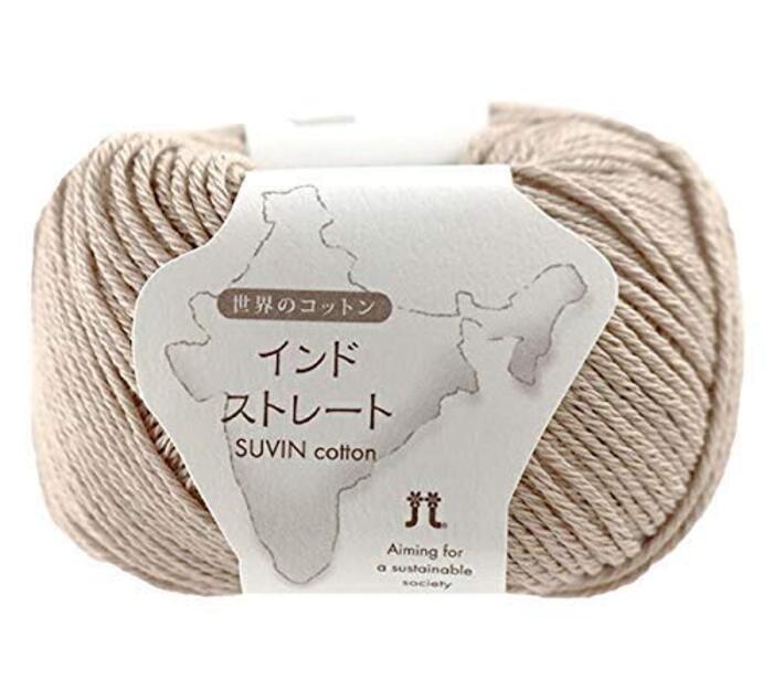 春夏毛糸 『世界のコットン インドストレート 2番色』 Hamanaka ハマナカ