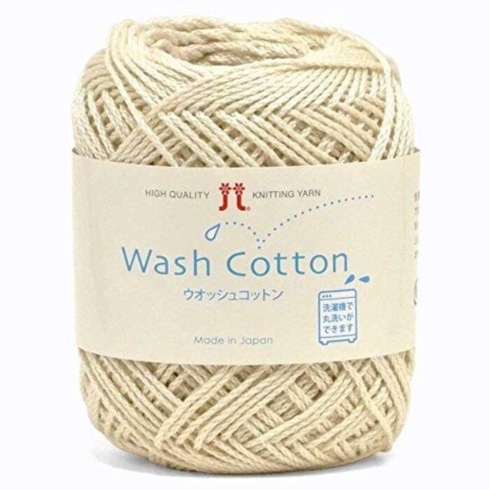 【ハマナカ 編み物用手芸糸】 ウォッシュコットン 02番色