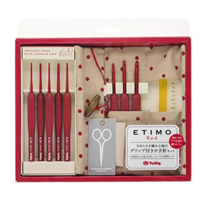 Tulip チューリップ『ETIMO Red(エティモレッド) かぎ針セット 赤』  TED001