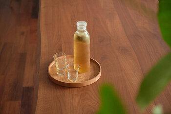 水出し時間は約30分。熱によって変質するポリフェノールは、水出しで飲むのがおすすめです。