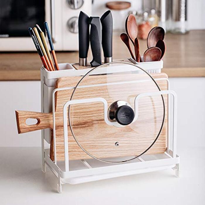 YTOPRO まな板スタンド キッチンツールスタンド 包丁立て 箸立て 鍋蓋スタンド