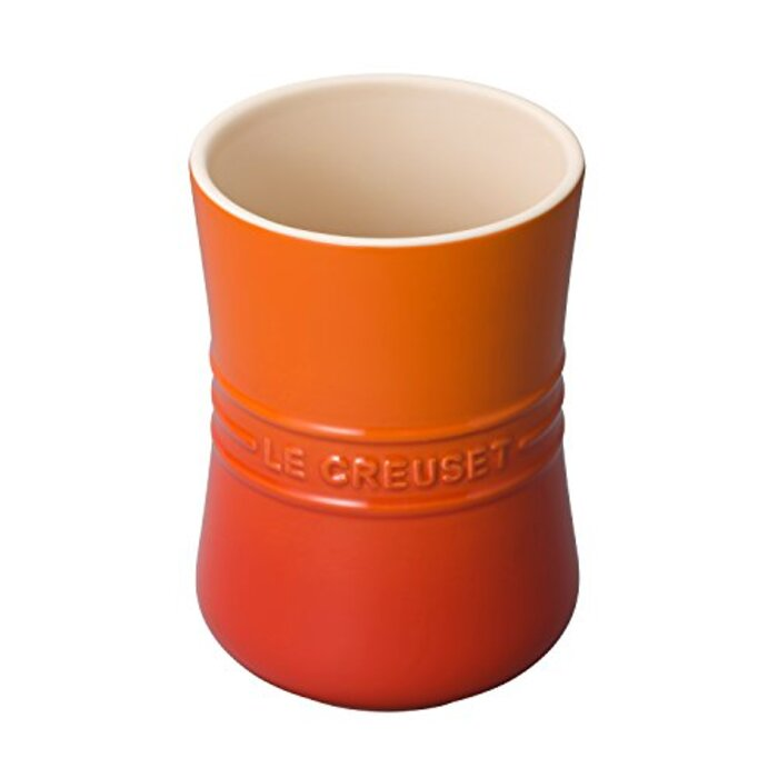 ル・クルーゼ(Le Creuset)  ツールスタンド ユーテンシル・ジャー(S) オレンジ 【日本正規販売品】