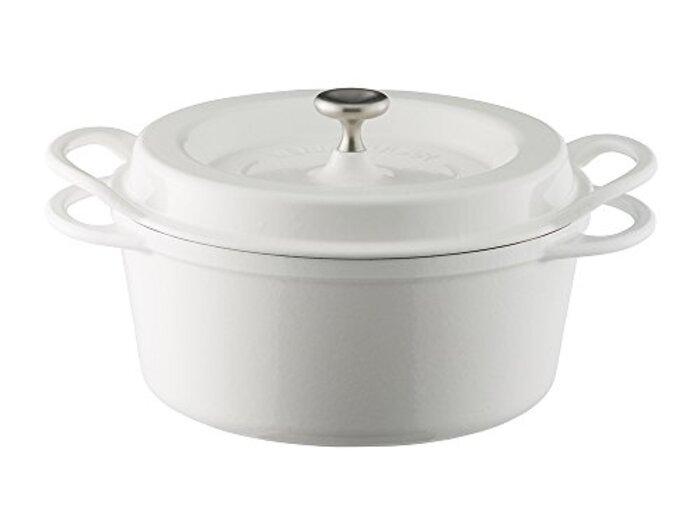 バーミキュラ:オーブンポットラウンド 22cm 無水 ホーロー鍋 専用レシピブック付