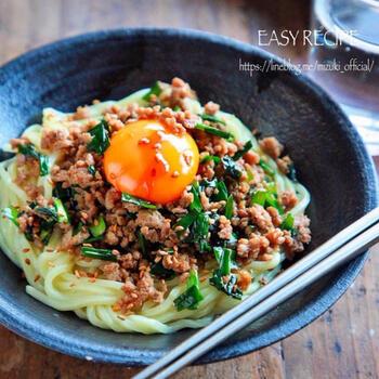 うま辛の台湾ミンチが決め手!「まぜそば」の作り方&アレンジレシピ