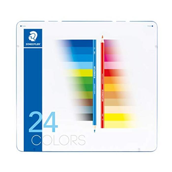 ステッドラー 色鉛筆 24色 油性色鉛筆 ノリスクラブ メタルケース入り