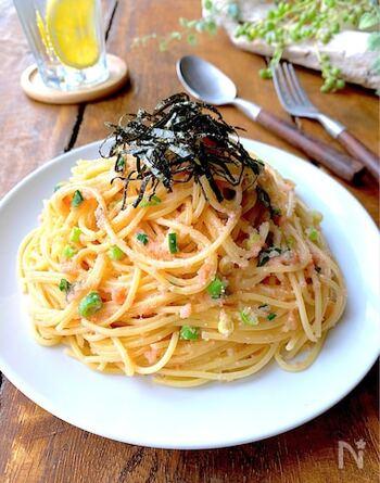白だしの上品な風味で、簡単手軽なたらこスパゲティもランクアップ。和えるだけなのに贅沢気分が味わえます♪