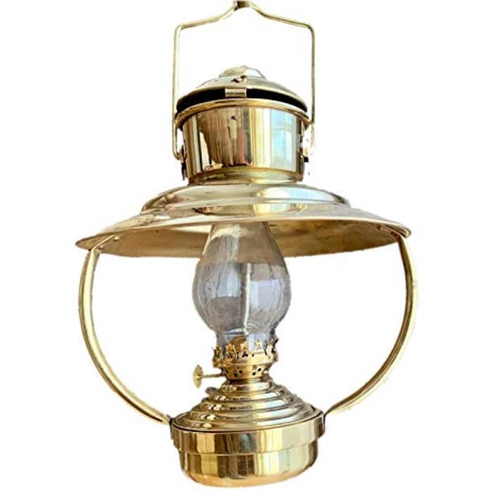 Roost Outdoors Brass Trawler Oil Ship Lantern (真鍮トローラーオイルランタン シップランプ 船灯)