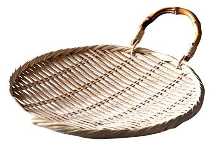 山下工芸(Yamasita craft) 根竹柄付盆ザル