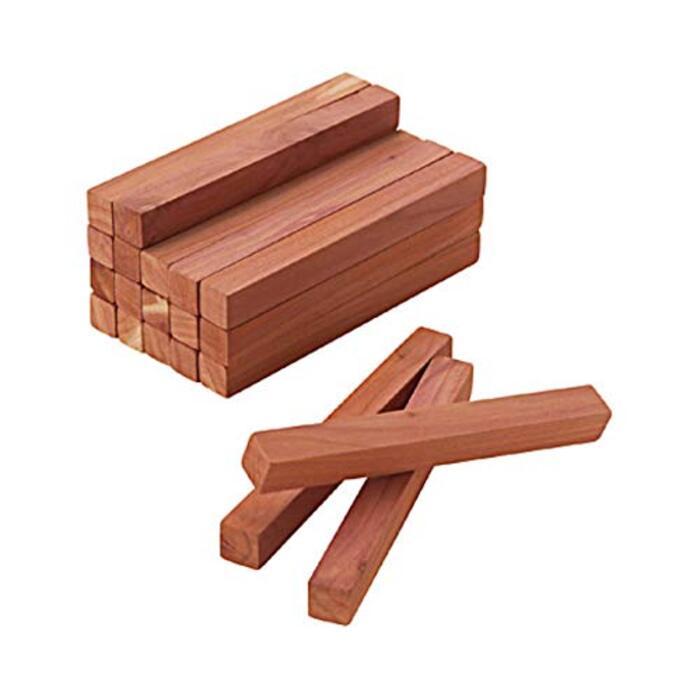 無印良品 レッドシダーブロック・紙やすり付 20本入・幅10×奥行1×高さ1cm 02070694 ナチュラルブラウン