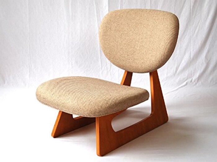 布張り座椅子 低座椅子 完成品 (日本製) 天童木工 ベージュ色 S-5016NA-ST