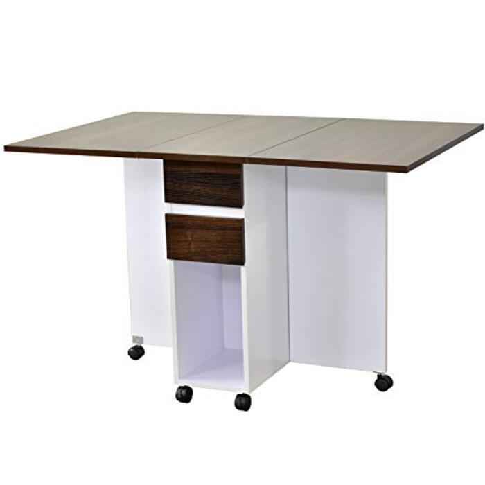 DORIS ダイニングテーブル 折りたたみテーブル キャスター付き