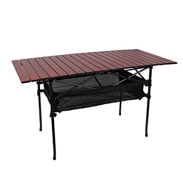 ヨーラー キャンプ ロールテーブル ハイ 静止耐荷重80kg ブラック