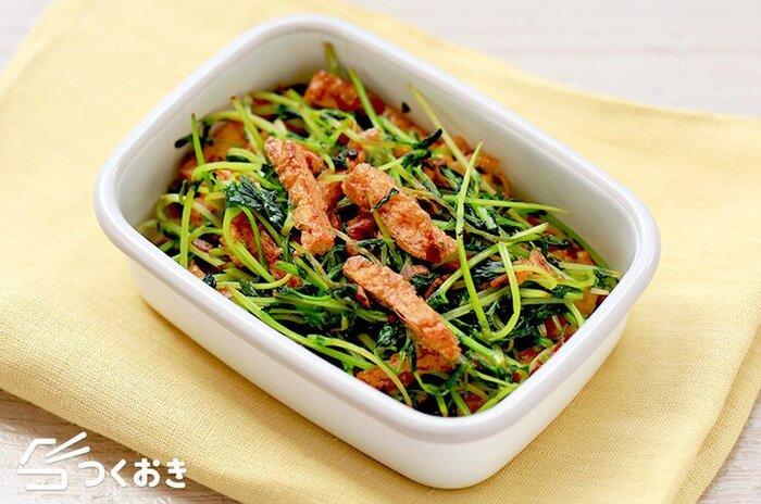 冷凍保存も出来て便利な油揚げを使った一品は、副菜にはもちろんお弁当にもOK。厚揚げでも美味しく作れそうですね!