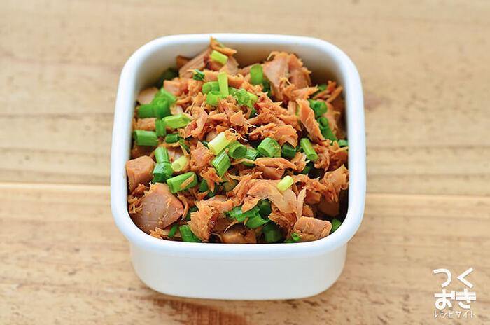 余ったマグロは、煮詰めてマグロフレークにしておけばとっても便利。お茶漬けにのせたり、おにぎりの具にしても美味しそうです。冷蔵で約7日ほど保存可能だそうです。