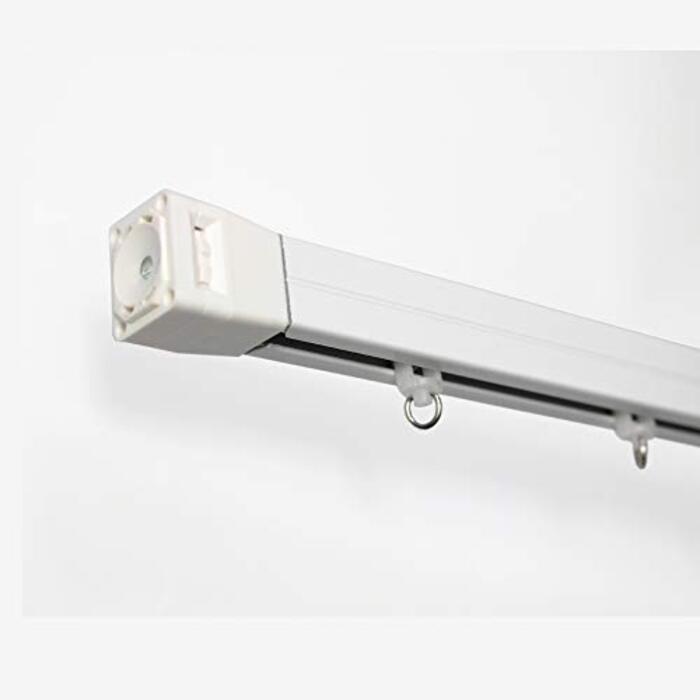 【窓美人】ネジ・クギを使わず簡単取付つっぱり式! テンションカーテンレール 【トレノ ホワイト (52~80cm)】