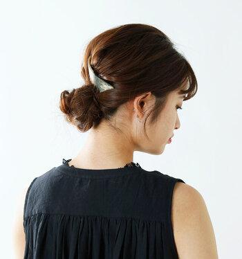 結婚式のお呼ばれに。髪型・ヘアスタイルは簡単アレンジでナチュラルに。