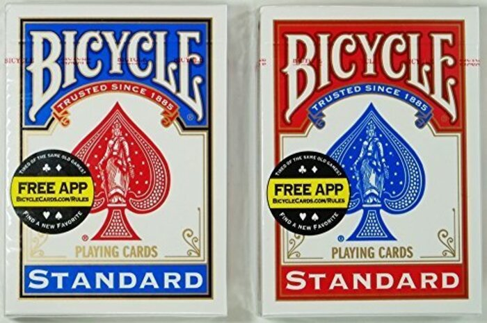 マジックに最適!トランプの王様「BICYCLE バイスクル ライダーバック808 ポーカーサイズ」