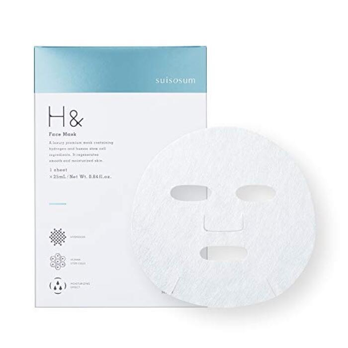 アッシュアンド H& 水素 フェイスマスク 1枚入り (スキンケア ヒト幹細胞 保湿 ギフト)