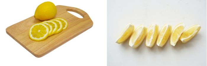 皮はお好みで残してOKです。ほろ苦いレモンの風味をつけることができます。レモンの苦味が苦手な方は、白い部分を残して、皮をむきましょう。