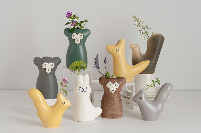 こちらも鹿児島睦デザインのもの。リサ・ラーソンの陶器オブジェを製作している、スウェーデンの工房「Keramikstudion」とのコラボにより作られました。